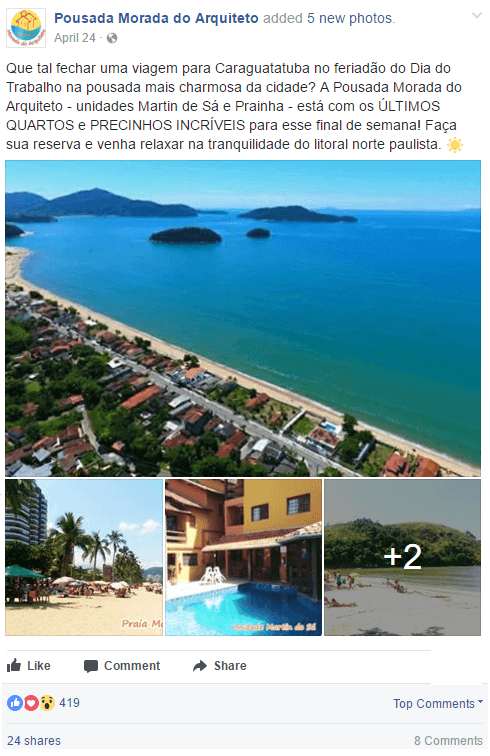 Facebook Ads - Pousada