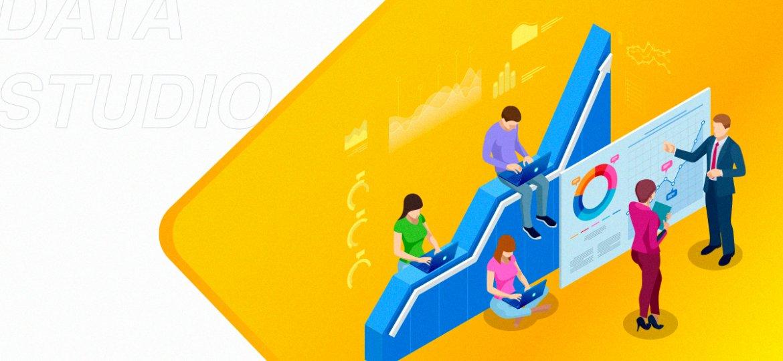 Coletar, visualizar e compartilhar são as funcionalidades do Google Data Studio. Essa ferramenta ajuda sua empresa a fazer relatórios completos.